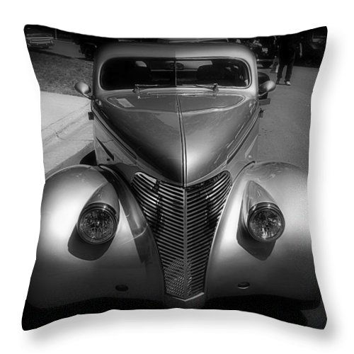 Old Throw Pillow featuring the photograph Old Calssic Car by Perry Webster