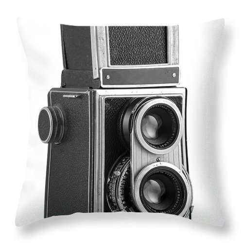 Camera Throw Pillow featuring the photograph Old Camera by Michal Boubin