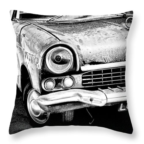 Car Throw Pillow featuring the photograph Old Car by Nelson Mineiro