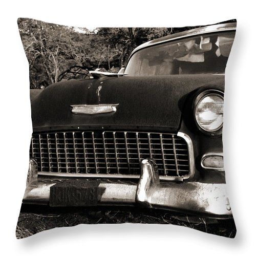 Americana Throw Pillow featuring the photograph Old Chevy by Marilyn Hunt