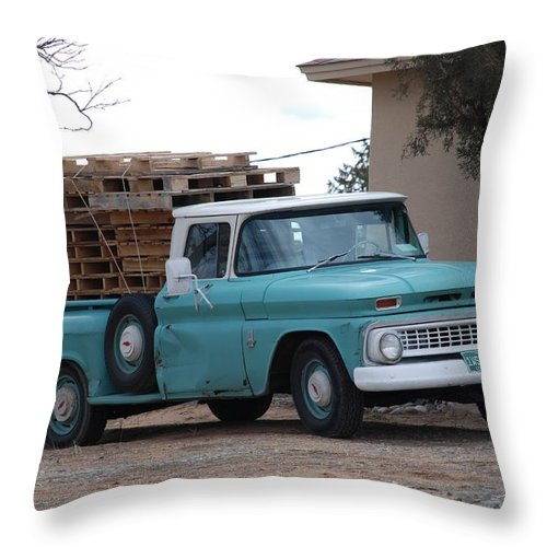 Old Truck Throw Pillow featuring the photograph Old Chevy by Rob Hans