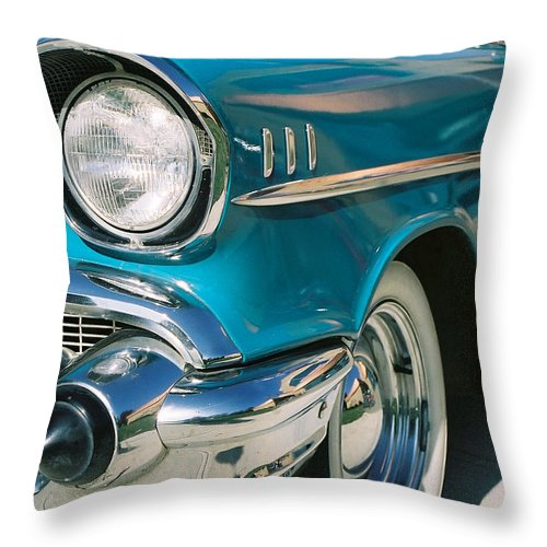 Chevy Throw Pillow featuring the photograph Old Chevy by Steve Karol
