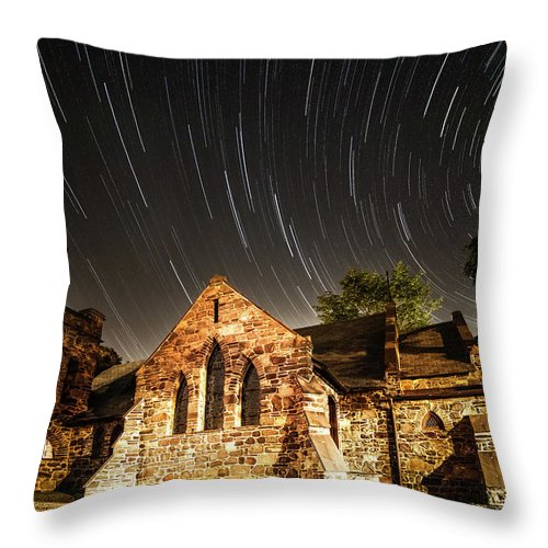 Amaizing Throw Pillow featuring the photograph Old Church by Edgars Erglis