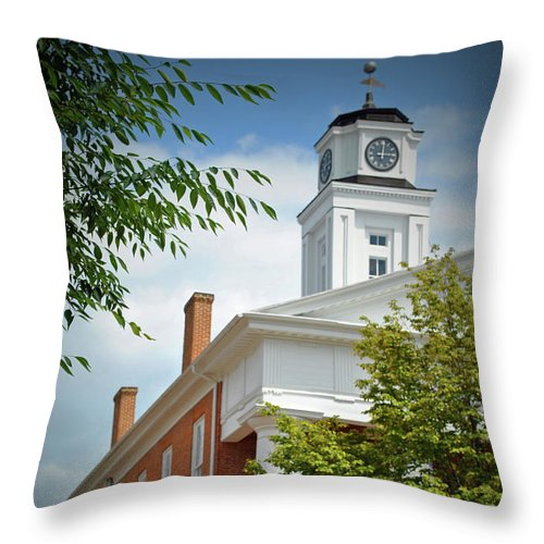 Winchester Throw Pillow featuring the photograph Old Court House by Jost Houk