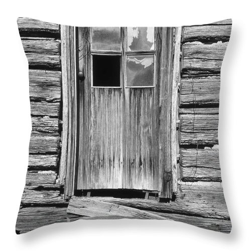 Aged Throw Pillow featuring the photograph Old Door by Richard Rizzo