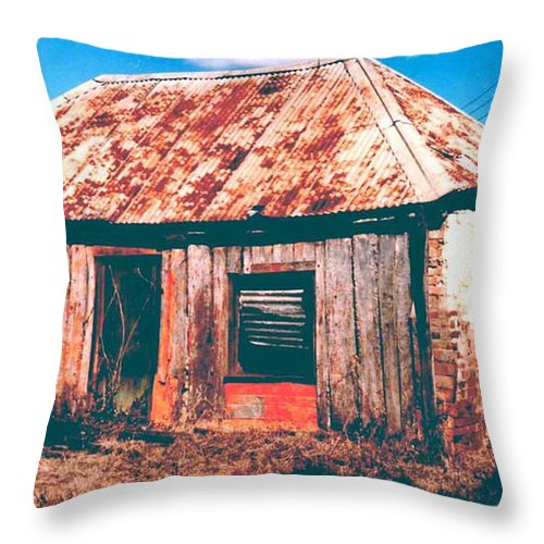 Australia Throw Pillow featuring the photograph Old Farm House by Gary Wonning