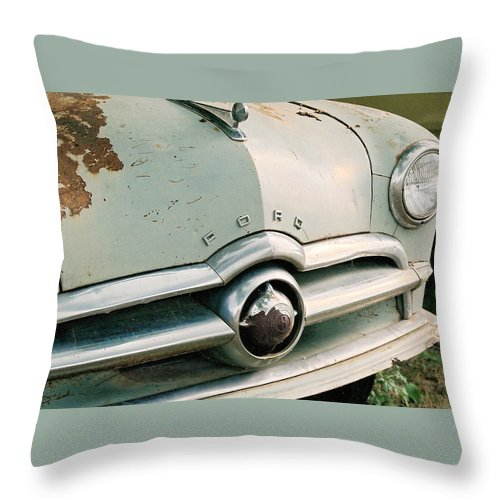 Car Throw Pillow featuring the photograph Old Ford by Lauri Novak