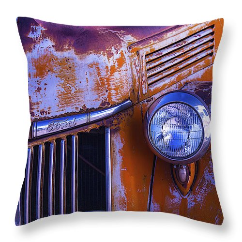 Truck Throw Pillow featuring the photograph Old Ford Pickup by Garry Gay