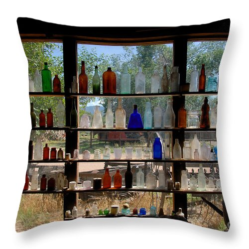 Glass Throw Pillow featuring the photograph Old Glass by David Lee Thompson