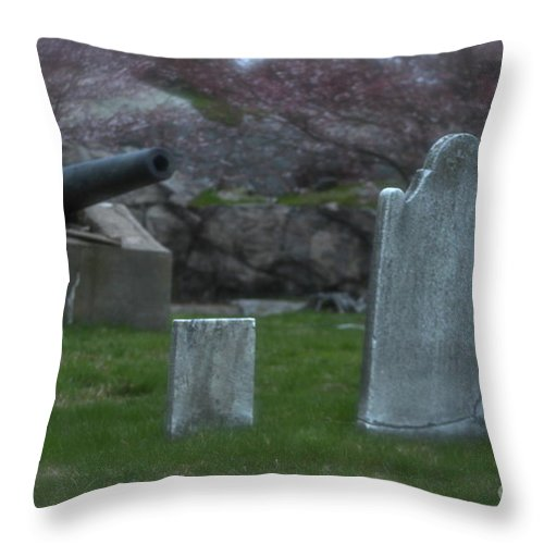 Cemetery Throw Pillow featuring the photograph Old Graves by Rick Monyahan