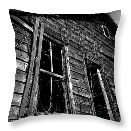 old House Throw Pillow featuring the photograph Old House by Amanda Barcon