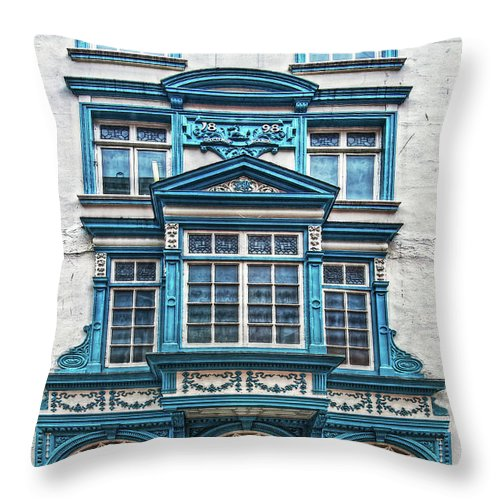 Dublin Throw Pillow featuring the digital art Old Irish Architecture by Hanny Heim
