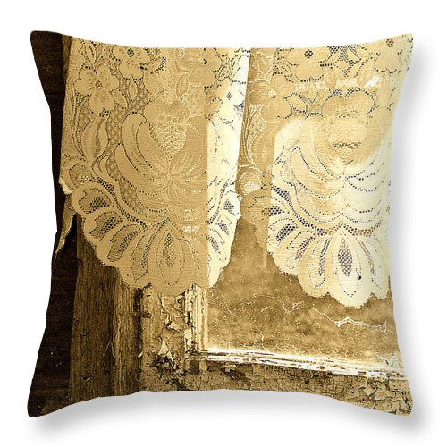 Lace Throw Pillow featuring the photograph Old Lace by Linda McRae