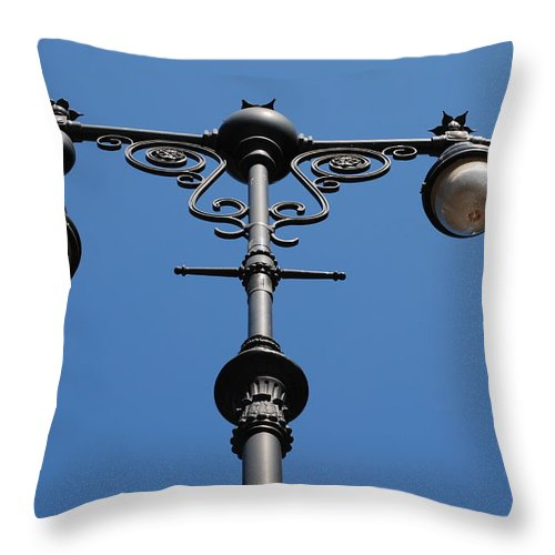 Lamppost Throw Pillow featuring the photograph Old Lamppost by Rob Hans