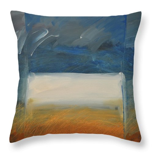 Rothko Throw Pillow featuring the painting Old Macrothko Had A Farm by Tim Nyberg