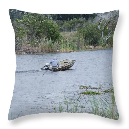 River Throw Pillow featuring the photograph Old Man River by Rob Hans