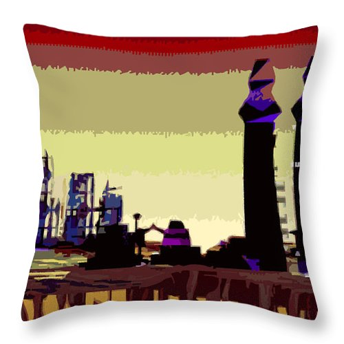 Mars Throw Pillow featuring the digital art Old Mars And New Mars by Alexandra Cook