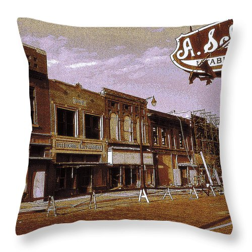 Memphis Throw Pillow featuring the photograph Old Memphis Beale Street by Peter Potter