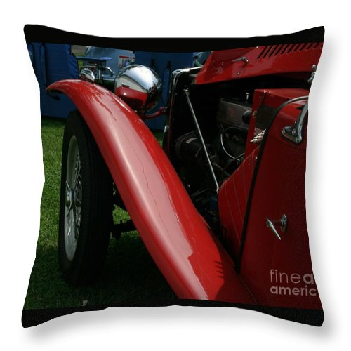 Mg Throw Pillow featuring the photograph Old Mg by Dawn Downour