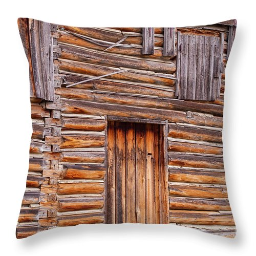 Jackson Hole Wyoming Throw Pillow featuring the photograph Old Mormon Barn by Bob Phillips