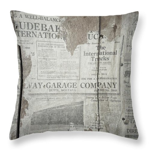 Newspapers Throw Pillow featuring the photograph Old News by Richard Rizzo