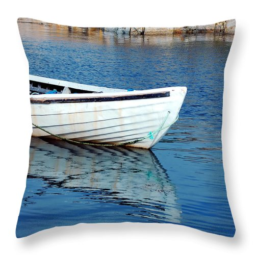 Old Throw Pillow featuring the photograph Old Row Boat by Kathleen Struckle