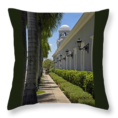 Travel Throw Pillow featuring the photograph Old San Juan Puerto Rico by Tito Santiago