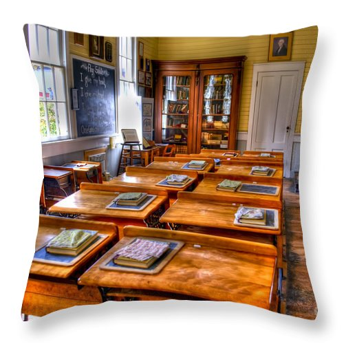 School Throw Pillow featuring the photograph Old School by Diego Re