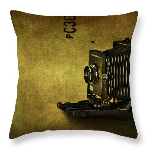 Camera Throw Pillow featuring the photograph Old School by Evelina Kremsdorf