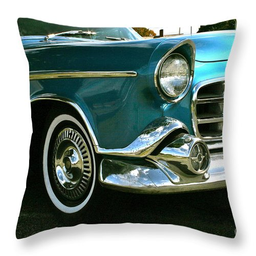 Car Throw Pillow featuring the photograph Old School by Rick Monyahan