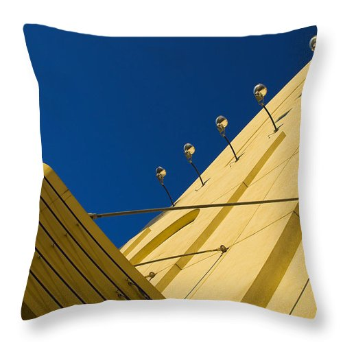 Electric Throw Pillow featuring the photograph Old School Vegas by Skip Hunt