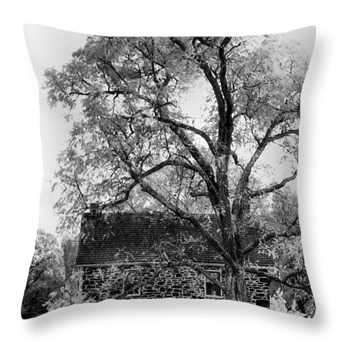 Homes Throw Pillow featuring the photograph Old Stone House by Richard Rizzo