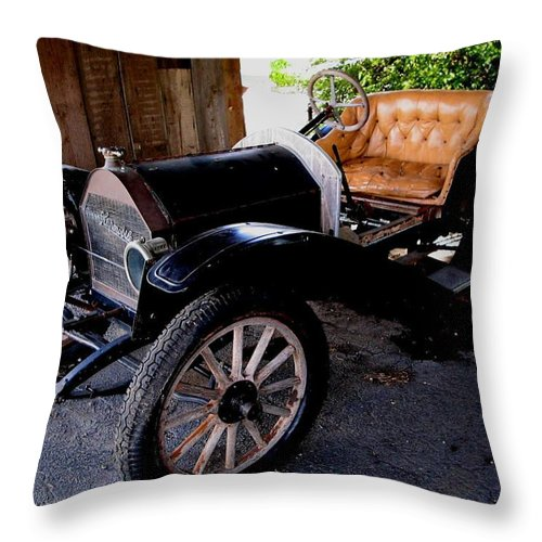 Car Throw Pillow featuring the photograph Old Timer by April Patterson