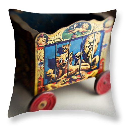 Americana Throw Pillow featuring the photograph Old Toy by Marilyn Hunt