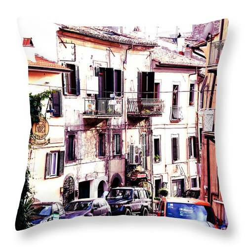 House Throw Pillow featuring the digital art Old Village by Lyriel Lyra