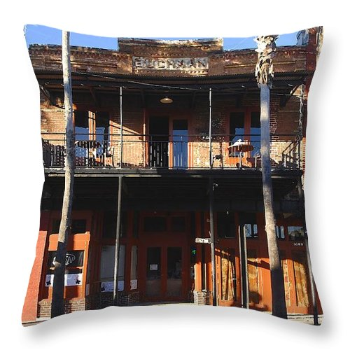 Ybor City Florida Throw Pillow featuring the photograph Old Ybor by David Lee Thompson