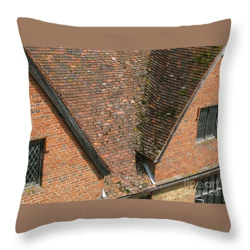 England Throw Pillow featuring the photograph Olde English by Ann Horn