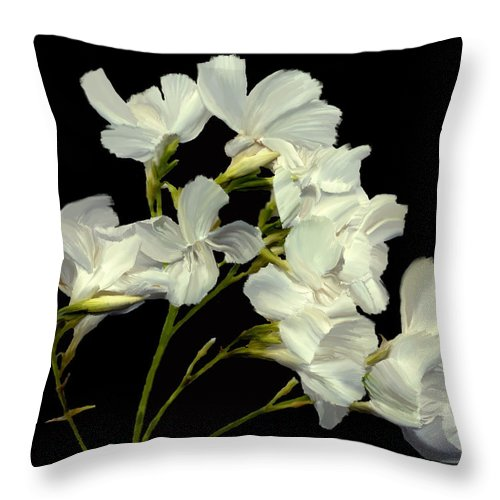 Flowers Throw Pillow featuring the photograph Oleander by Kurt Van Wagner
