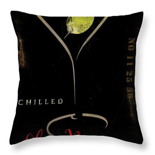 Olive Martini Throw Pillow featuring the painting Olive Martini by Mindy Sommers