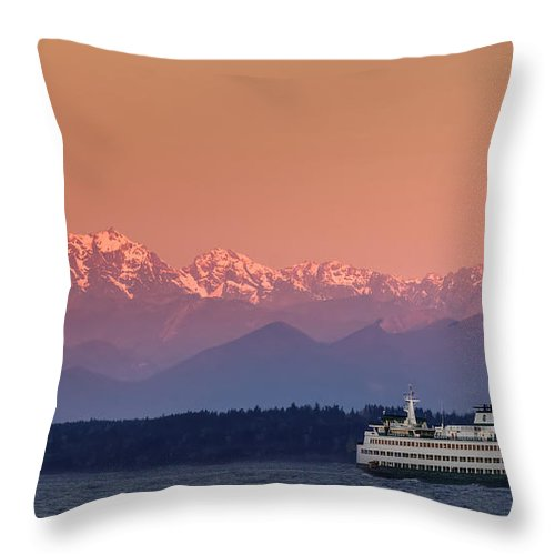 Ferry Throw Pillow featuring the photograph Olympic Journey by Dan Mihai