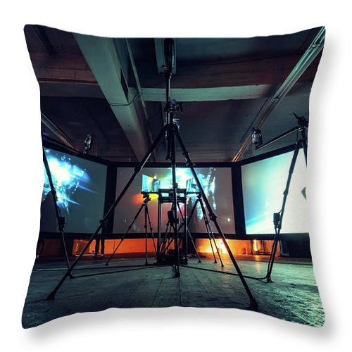 Berlin Throw Pillow featuring the photograph Olympus Photography Playground Berlin 2014 by Alexander Voss