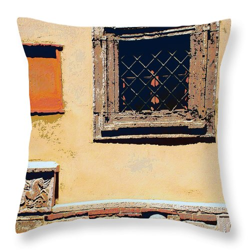 Omerta Throw Pillow featuring the mixed media Omerta by Dominic Piperata