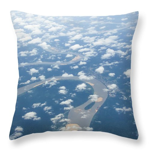 Landscape Throw Pillow featuring the photograph On Eagles Wings by Oghenefego Ofili