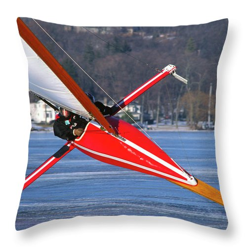 Lake Geneva Throw Pillow featuring the photograph On Edge - Lake Geneva Wisconsin by Bruce Thompson