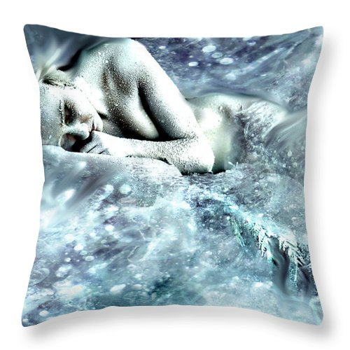 Fine Art Throw Pillow featuring the photograph On Ice by Cliff Nixon