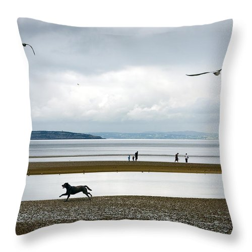 Beach Throw Pillow featuring the photograph On The Beach by Mal Bray