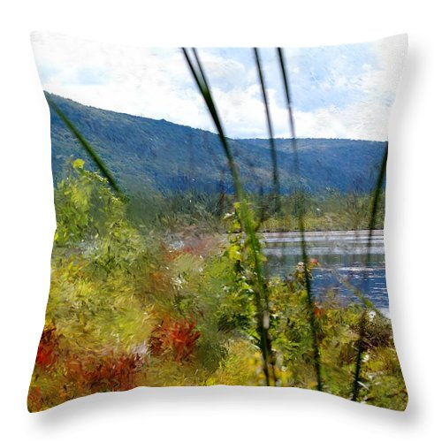 Digital Photograph Throw Pillow featuring the photograph On The Edge Of Reality by David Lane