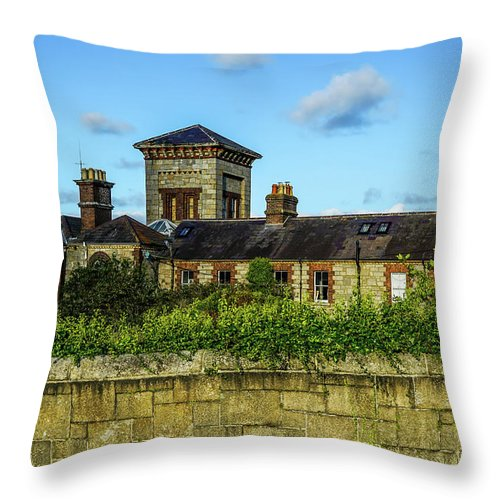 Building Throw Pillow featuring the photograph On The Harbor by Ric Schafer