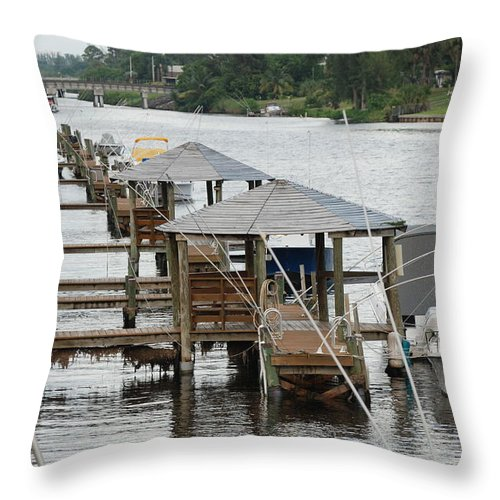 Boats Throw Pillow featuring the photograph On The Hillsboro Canal by Rob Hans