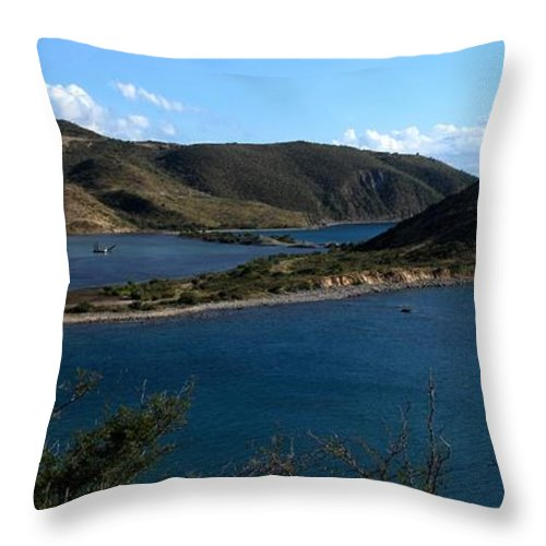 St Kitts Throw Pillow featuring the photograph On The Peninsula by Ian MacDonald